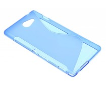 Blauw S-line TPU hoesje Sony Xperia M2 (Aqua)