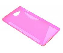 Rosé S-line TPU hoesje Sony Xperia M2 (Aqua)