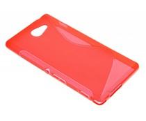 Rood S-line TPU hoesje Sony Xperia M2 (Aqua)