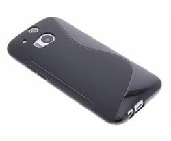 Zwart S-line TPU hoesje HTC One M8 / M8s