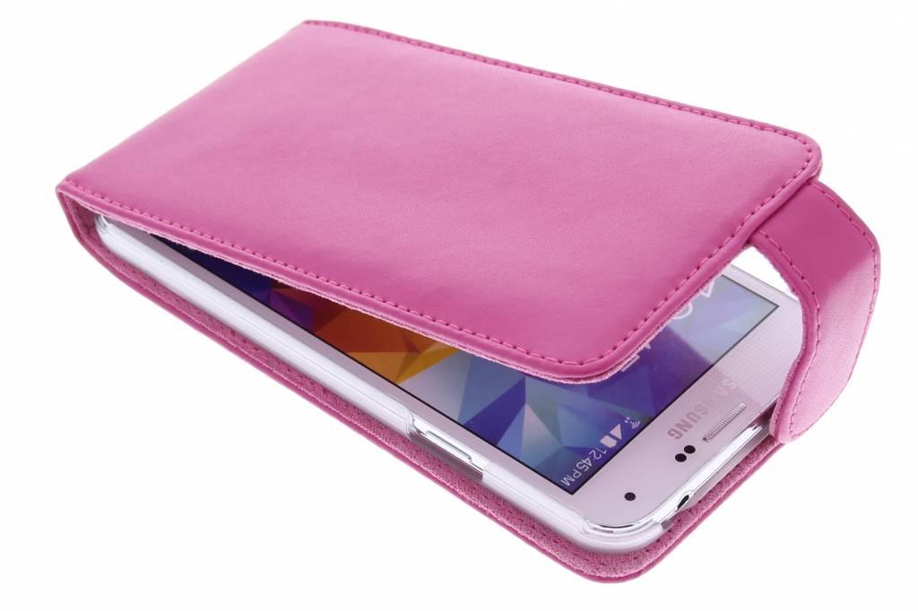 Fuchsia stijlvolle flipcase voor de Samsung Galaxy S5 (Plus) / Neo