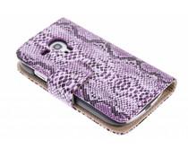 Roze slangenprint booktype Samsung Galaxy S3 Mini