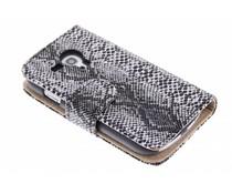 Grijs slangenprint booktype Samsung Galaxy S3 Mini