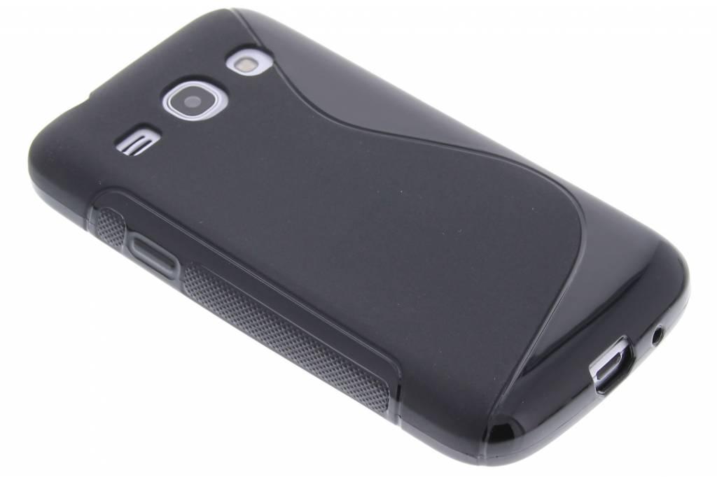 Zwart S-line flexibel TPU hoesje voor de Samsung Galaxy Core Plus