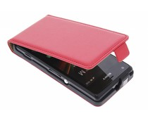 Rood luxe flipcase Sony Xperia M