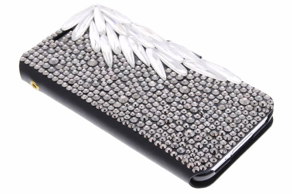 Glazen strass-stenen booktype hoes voor de Samsung Galaxy S5 (Plus) / Neo