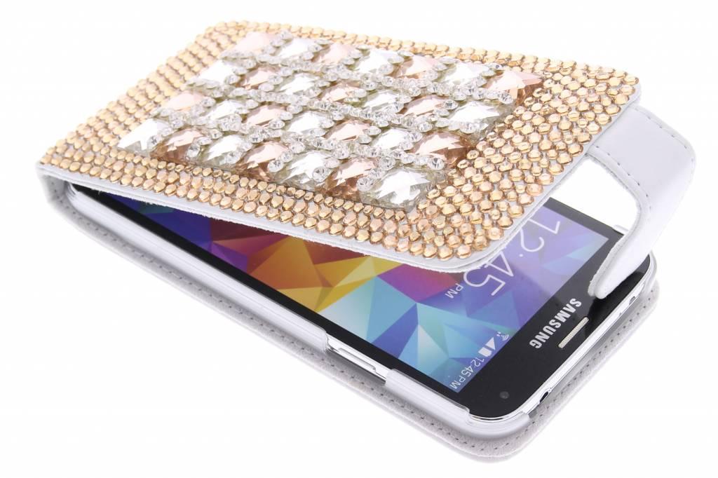 Glazen strass-stenen flipcase voor de Samsung Galaxy S5 (Plus) / Neo