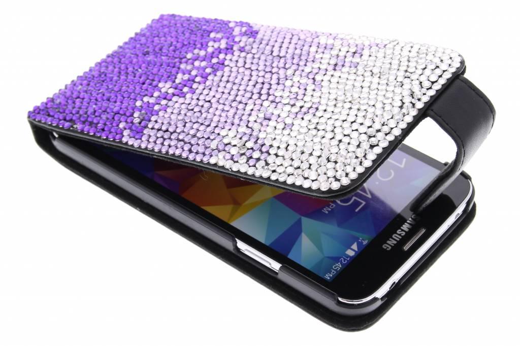 Glazen strass-stenen flipcase voor de Samsung Galaxy S5 / Neo