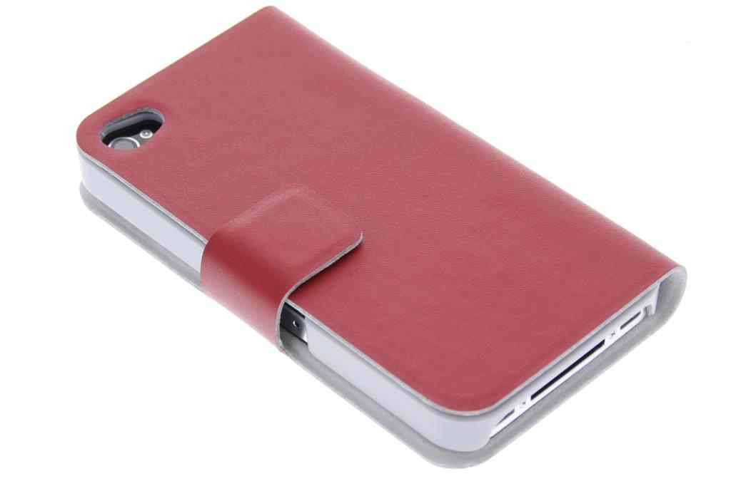Rode stijlvolle booktype hoes voor de iPhone 4 / 4s