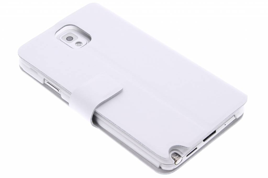 Witte stijlvolle booktype hoes voor de Samsung Galaxy Note 3