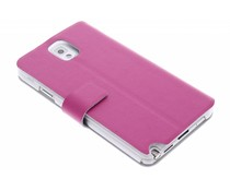 Fuchsia stijlvolle booktype hoes Samsung Galaxy Note 3