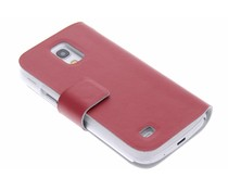 Rood stijlvolle booktype hoes Samsung Galaxy S4 Mini