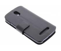 Zwart stijlvolle booktype hoes HTC Desire 500