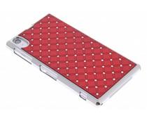 Rood hardcase hoesje met strass Sony Xperia Z1