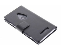 Zwart stijlvolle booktype hoes Nokia Lumia 925