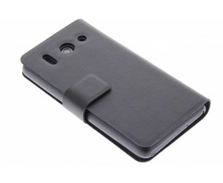 Zwart stijlvolle booktype hoes Huawei Ascend G510