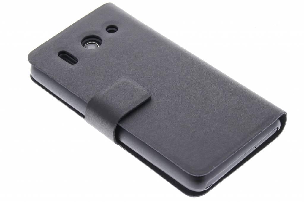 Zwarte stijlvolle booktype hoes voor de Huawei Ascend G510