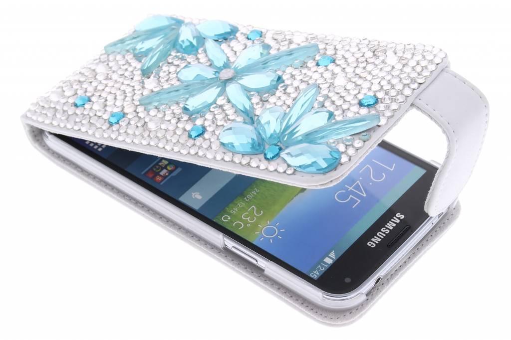 Glazen strass flipcase voor de Samsung Galaxy S5 (Plus) / Neo