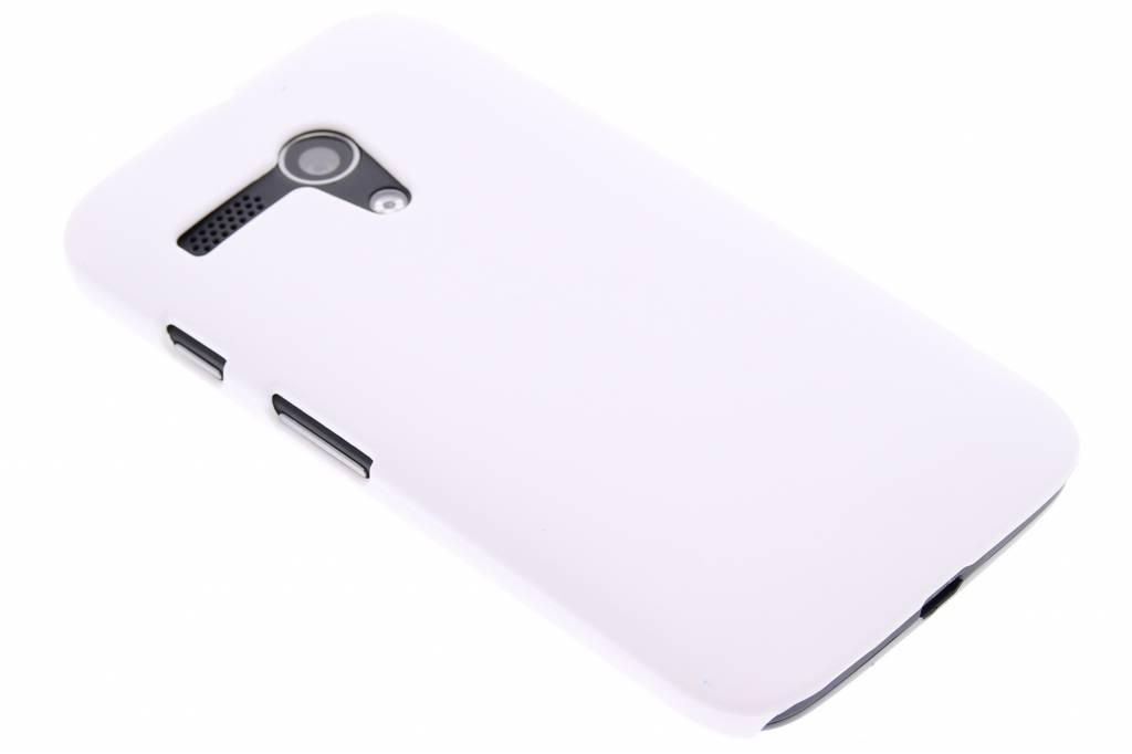 Wit effen hardcase hoesje voor de Motorola Moto G