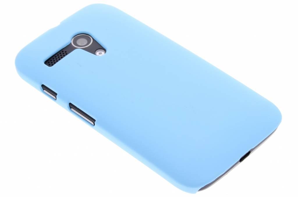 Turquoise effen hardcase hoesje voor de Motorola Moto G