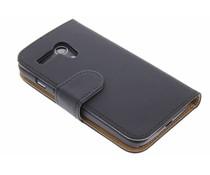 Zwart effen booktype hoes Motorola Moto G