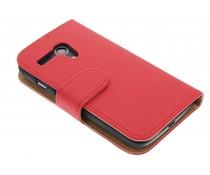 Rood effen booktype hoes Motorola Moto G