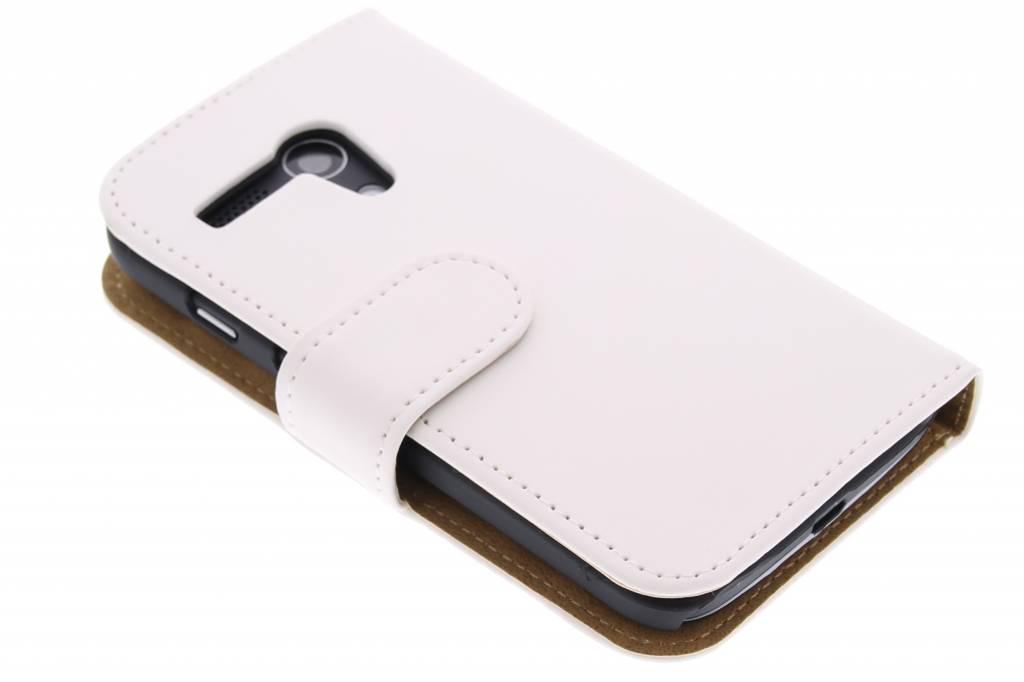 Witte effen booktype hoes voor de Motorola Moto G