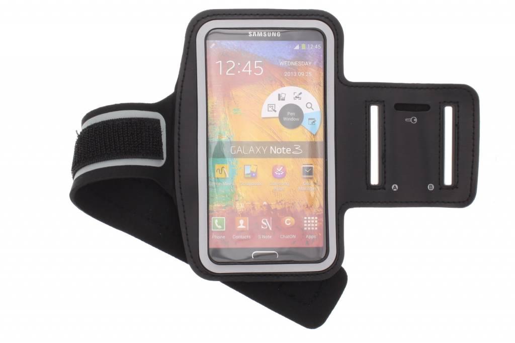 Zwarte sportarmband voor de Samsung Galaxy Note 3