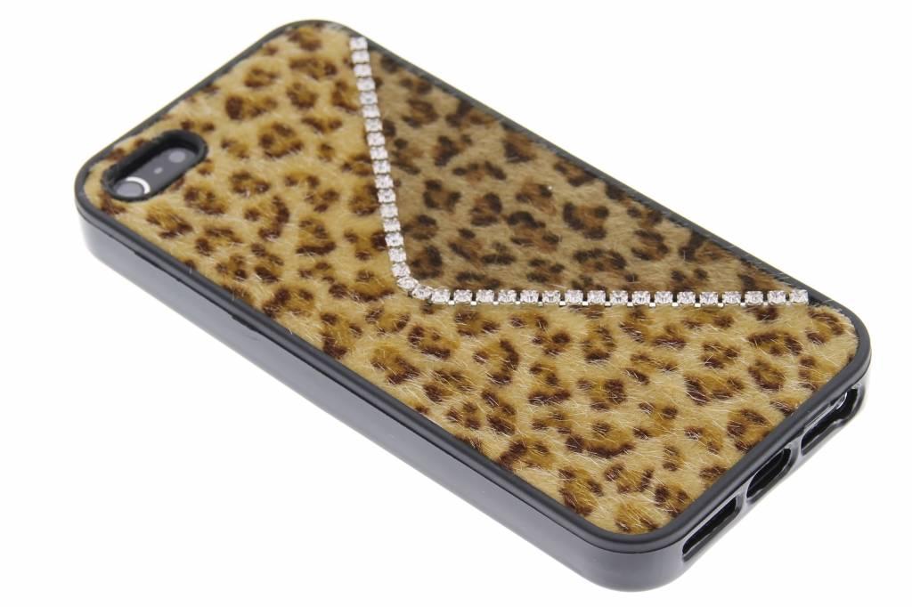 Bruine luxe luipaard design TPU hoesje voor de iPhone 5 / 5s / SE