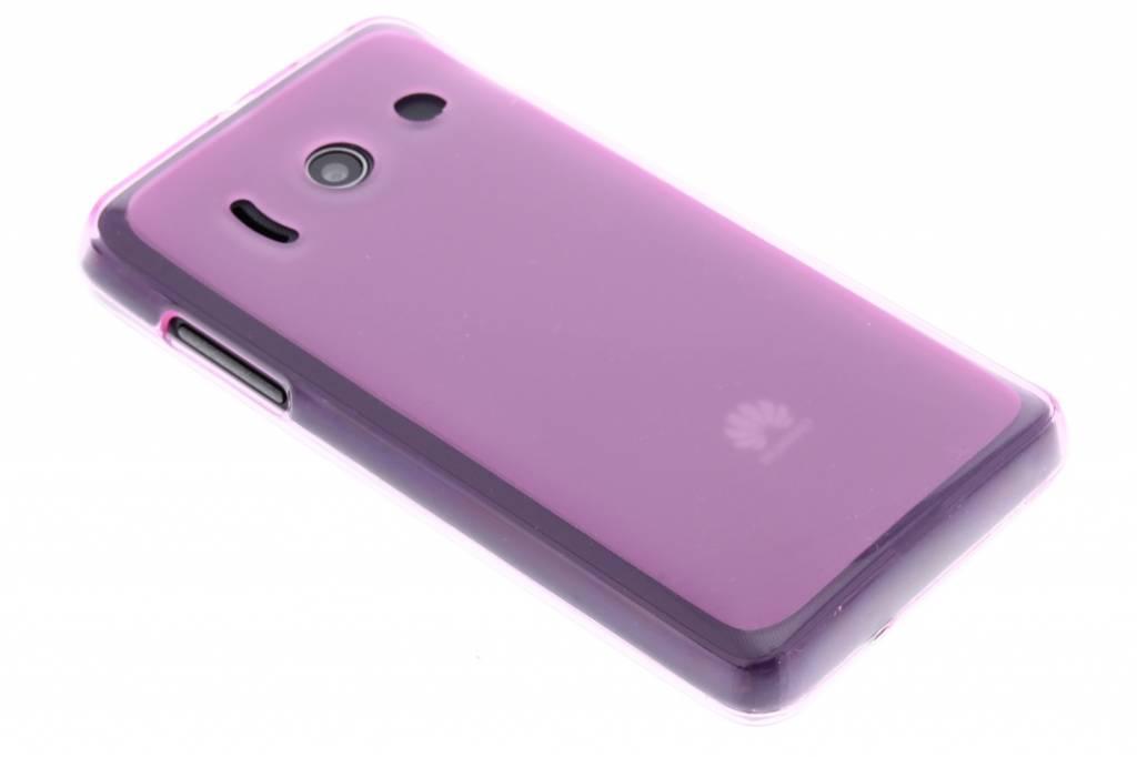 Roze hard siliconen hoes voor de Huawei Ascend Y300