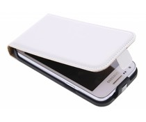 Wit luxe flipcase Samsung Galaxy Core Plus