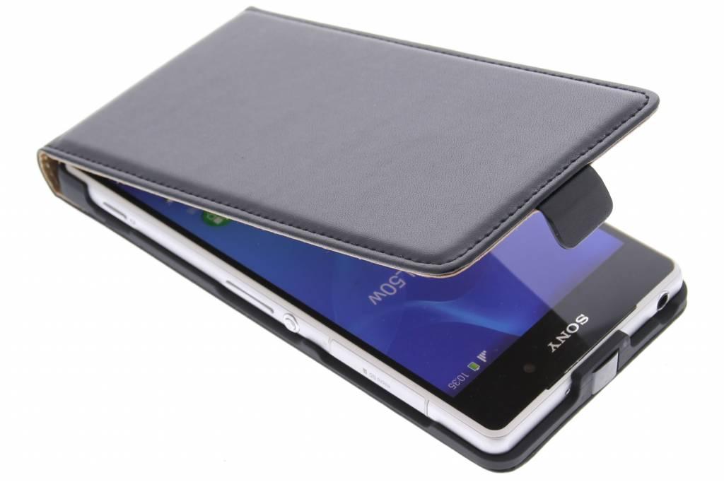 Zwarte luxe flipcase voor de Sony Xperia Z2