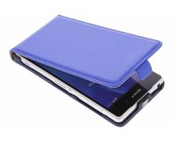 Blauw luxe flipcase Sony Xperia Z2