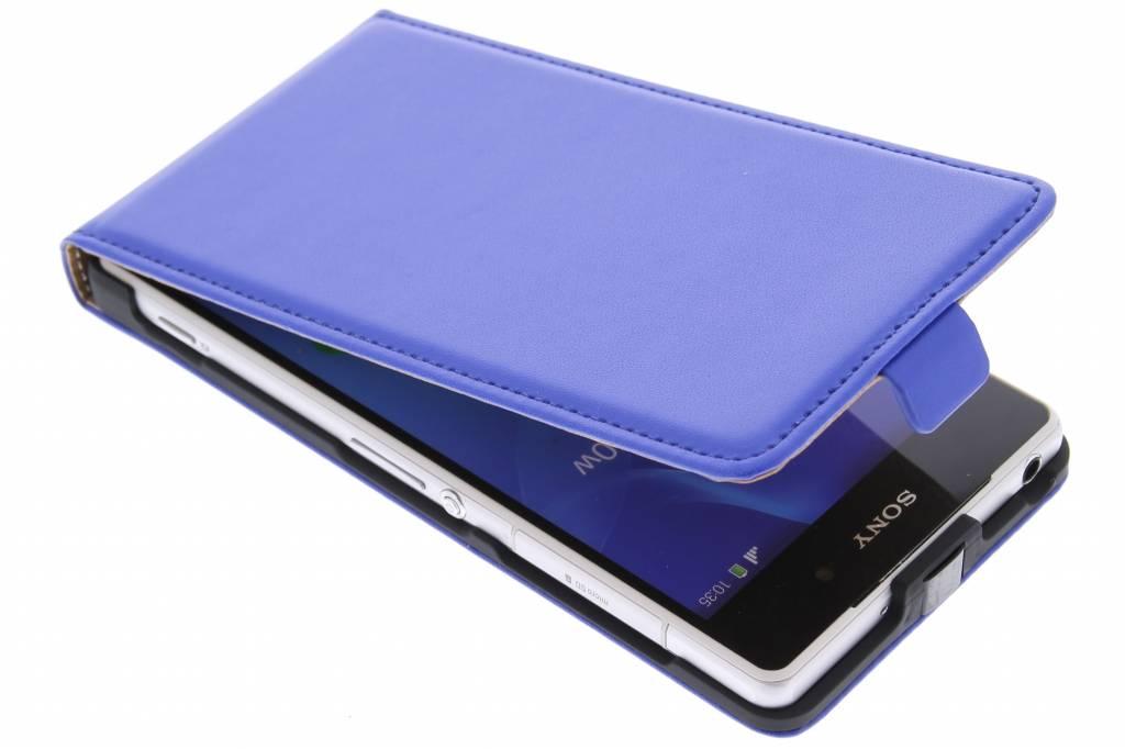 Blauwe luxe flipcase voor de Sony Xperia Z2