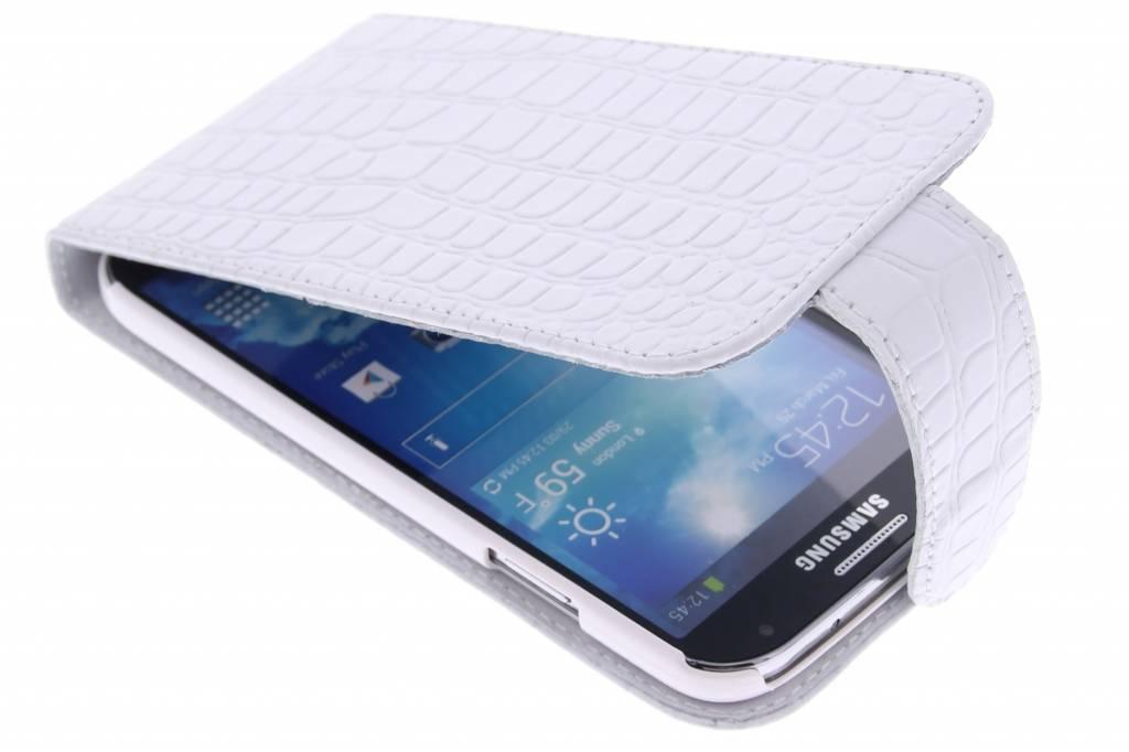 Valenta Flip Classic Croco voor de Samsung Galaxy S4 - wit