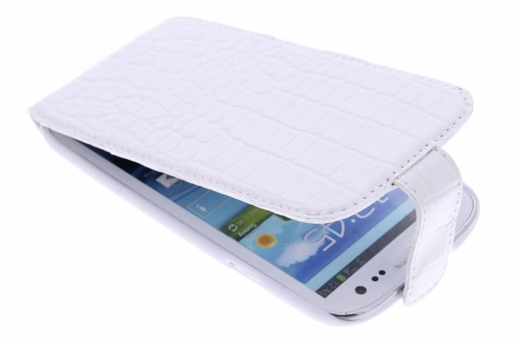 Valenta Flip Croco voor de Samsung Galaxy S3 / Neo - White