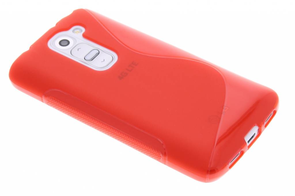 Rood S-line TPU hoesje voor de LG G2 Mini