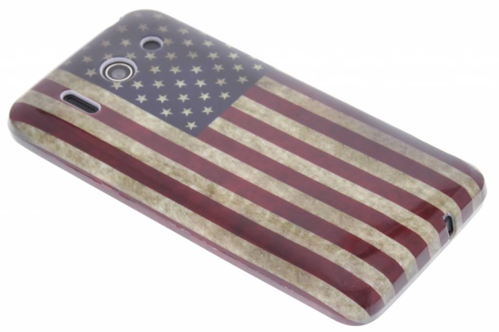 Amerikaanse vlag design TPU siliconen hoesje voor de Huawei Ascend G510
