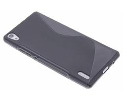 Zwart S-line TPU hoesje Huawei Ascend P7