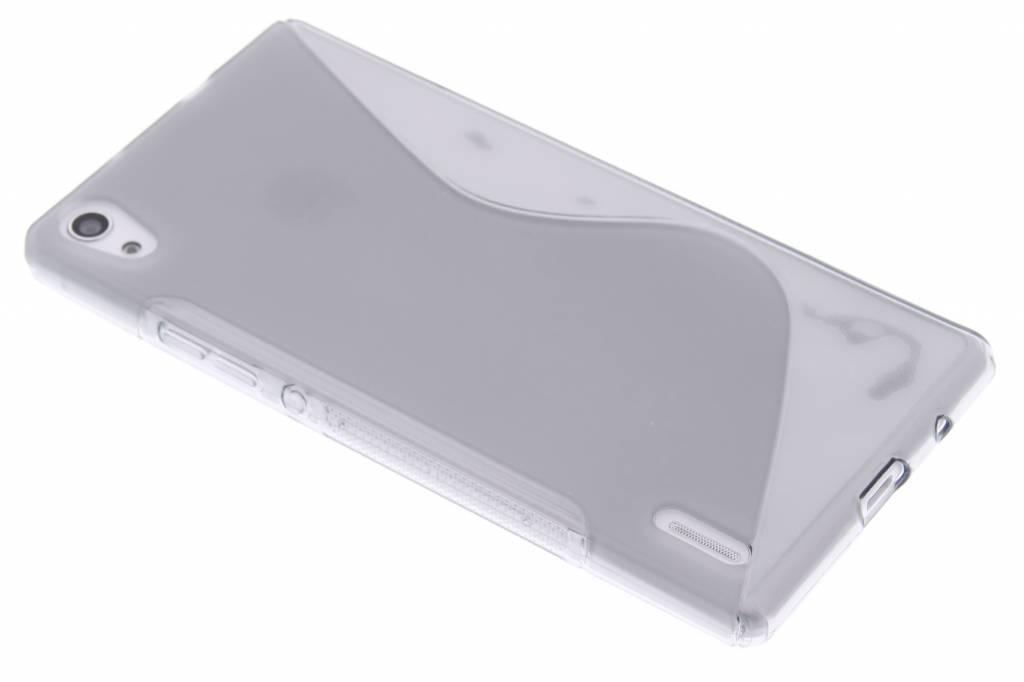 Grijs S-line TPU hoesje voor de Huawei Ascend P7