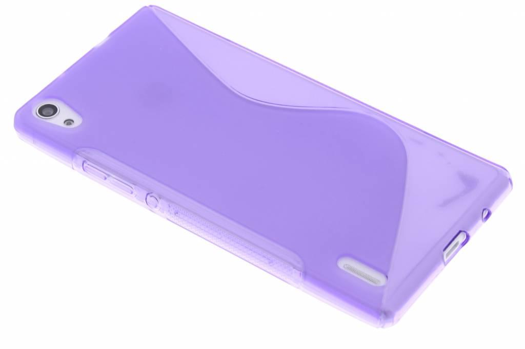 Paars S-line TPU hoesje voor de Huawei Ascend P7