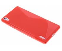 Rood S-line TPU hoesje Huawei Ascend P7
