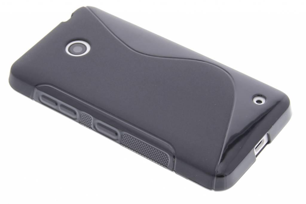 Zwart S-line TPU hoesje voor de Nokia Lumia 630-635