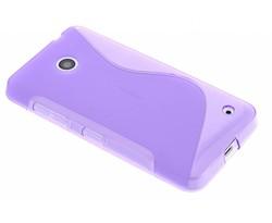 Paars S-line TPU hoesje Nokia Lumia 630 / 635