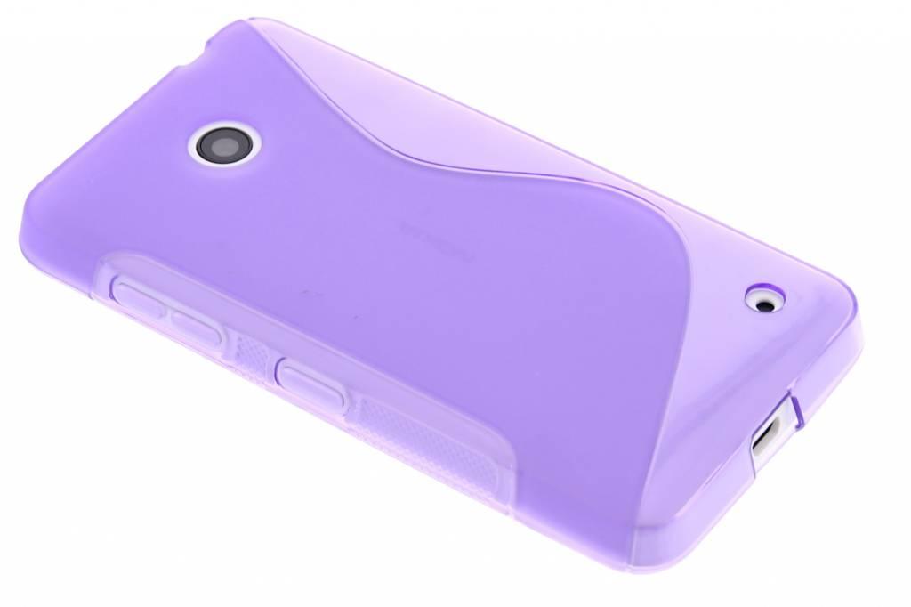 Paars S-line TPU hoesje voor de Nokia Lumia 630 / 635