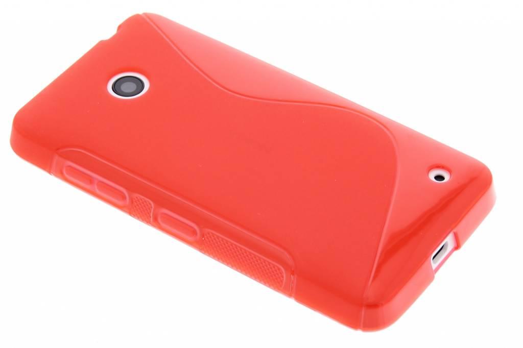 Rood S-line TPU hoesje voor de Nokia Lumia 630 / 635