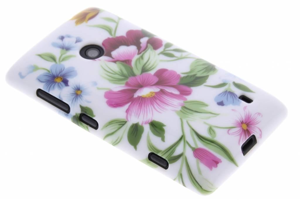 Bloemen design TPU siliconen hoesje voor de Nokia Lumia 520-525