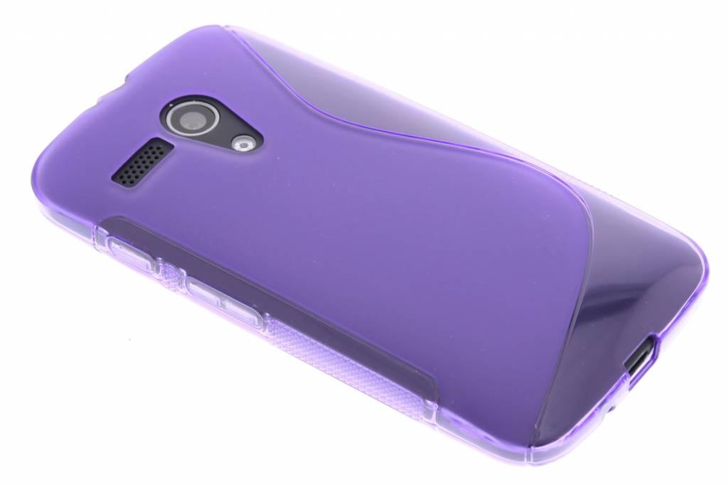Paars S-line TPU hoesje voor de Motorola Moto G