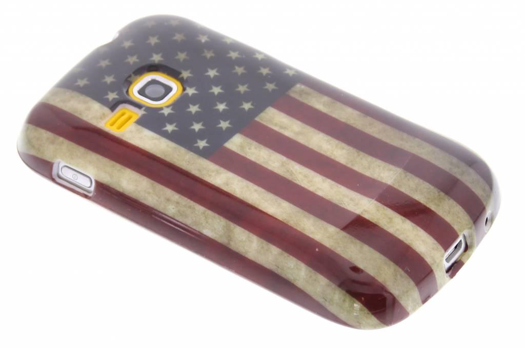 Amerikaanse vlag design TPU siliconen hoesje voor de Samsung Galaxy Mini 2