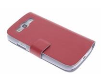 Rood stijlvolle booktype Samsung Galaxy S3 / Neo